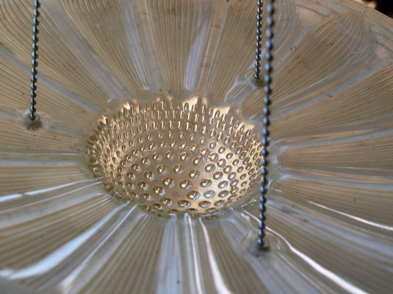 Repurpose Light Fixture Hanging Planter Bird Feeder Candle