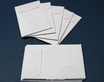 15 Mini Business Card White Envelopes