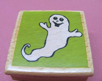 White Ghost Mounted Rubber Stamps