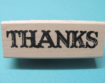 Thanks Mounted Rubber Stamps