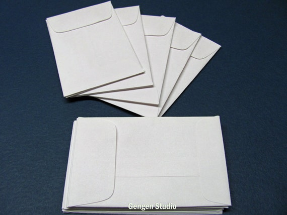 15 Mini Business Card White Envelopes