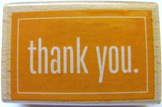 New Thank You Rubber Stamp