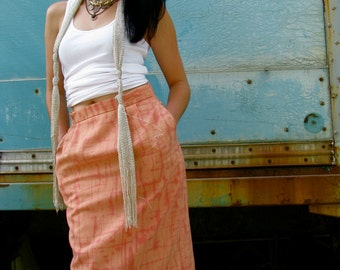 onemanband. original UPCYCLED Dreamcicle PENCIL SKIRT