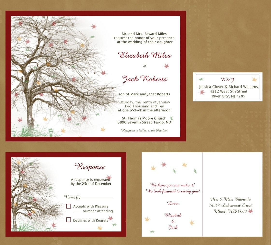 tree themed wedding invitations - 28 images - exclusive tree wedding ...