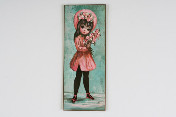 Vintage Maio Big-Eyed Girl Print