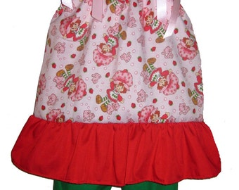 Pillowcase Dress & Pants Set Strawberry Shortcake Kitty Boutique 12/18M 24M/2T 3T/4T 5/6 Pageant New