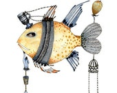 Fish, Illustration Print 8x11