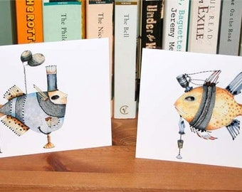 Fish Cards featuring Decorative Fish 4x6