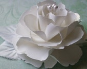 The Lady Flora Handmade Paper Flower - Wedding Collection -  Bridal White