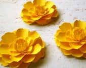 The Marigold Paper Flowers - Canary Yellow - set of 10