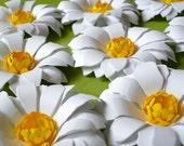 The Daisy Girl -  Handmade Paper Flower - set of 10