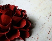Gift Bows  - handmade paper flowers - Cranberry color  - set of 5 flowers   - Custom order available