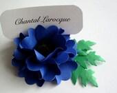 Place Card Holders - Handmade Paper Flower - Oriental Poppy - Cobalt Blue - Set of 50