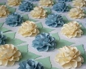 Wedding - ESCORT CARDS - The Rosetta Paper Flowers - Assorted Color - set of 100 - Made To Order