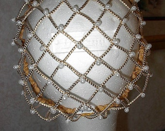 Renaissance Corded NEW Gold Caul SNOOD EverAfter,Wedding,Costume Bun Cover