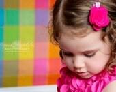 Pretty Felt Rosette Clip- Your Choice of Colors- Custom Hair Clip