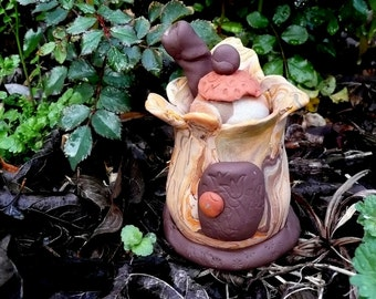 A Woodland Dwelling, Fairy House, Gnome Home, Fairies, House