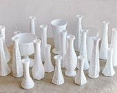 Vintage Milk Glass Instant Collection - Set of 23