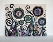 Flowers, Swirls, and Pods in Rainbow Colors - 11x14 LIMITED EDITION Colorful Print