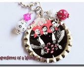 Good Charlotte Necklace Personalized Bottlecap Bottle Cap by Ingredients of a Woman