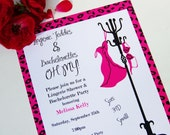 Pink Animal Print Lingerie Shower and Bachelorette Invitation