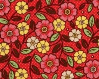 Riley Blake Designs Nantucket Summer Pink Medium Floral Fabric - 1 yard