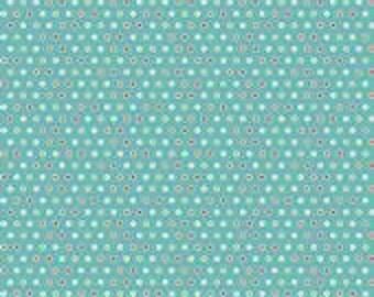 Riley Blake Colorful Christmas Blue Mini Dot - 1 yard