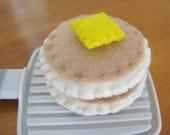Silver Dollar Pancakes and Butter - Felt Play Food