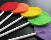 Lollipop Bouquet - A Rainbow of Felt Fun