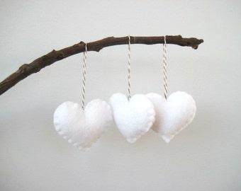 Felt heart ornaments Valentine's Day Decor Valentines Day Decorations Heart Ornaments Christmas Tree Ornament Wedding Favors