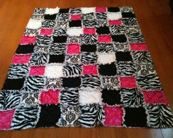 Custom Made To Order Rag Quilt Twin Size Many Fabrics and Styles Available