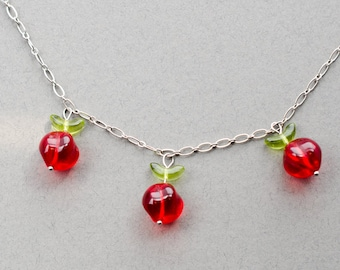 Glass Cherries Necklace
