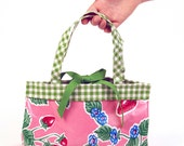 Freckled Sage Oilcloth Handbag