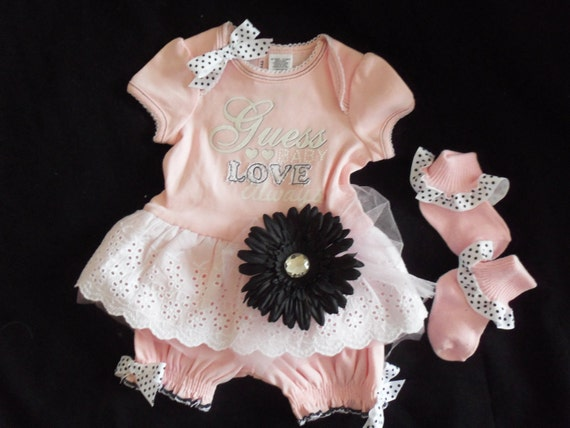Baby guess baby outfit