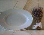 Large White Bavarian Platter with scalloped edges