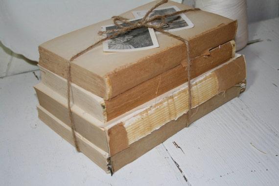 Vintage Stack of White Books