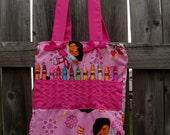 Dora the Explorer Crayon / Coloring Book Tote Bag