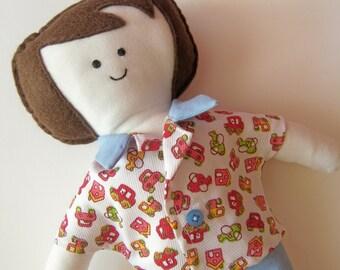 """Soft Boy Doll, 11.5"""" high"""