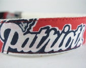 Hemp dog collar - New England Patriots