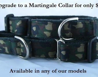 Martingale Collar upgrade - any of our hemp dog collars