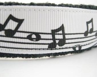 Rock and Roll Music Hemp dog collar or leash