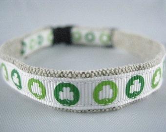 "St Patricks Luck of the Irish organic cotton 1/2"" collar"