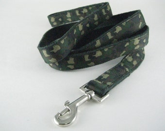 Camouflage hemp dog leash