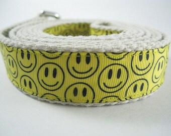 Happy Smile Face hemp dog leash