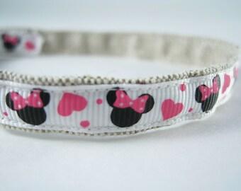 "Minnie Mouse Disney organic cotton 1/2"" collar"