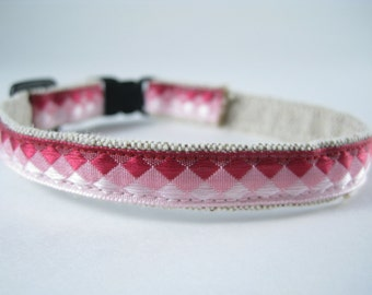 "Pink Diamonds Organic Cotton 1/2"" collar"