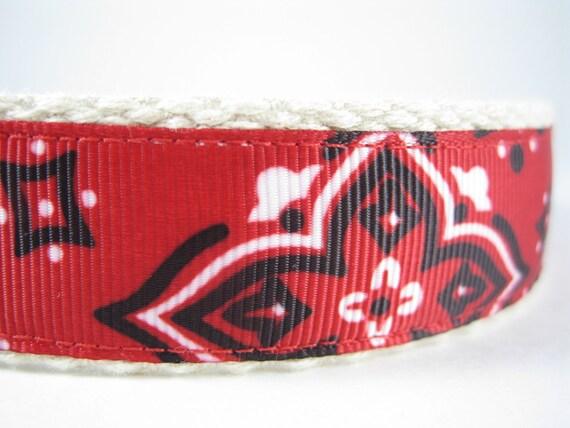 Hemp dog collar - The Duke Bandana