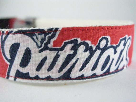 Hemp dog collar - New England Patriots