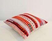 White Lanna Hmong tribal cotton pillow cover