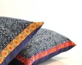 Kram indigo dye cotton pillow cover